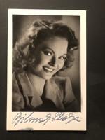 Bilinszky Ibolya  aláírt képeslap