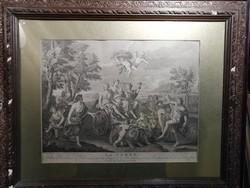 La Terre  - Antik metszet 1799.