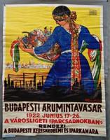 Budapesti Árumintavásár 1922 Faragó Géza plakát - nagyméretű reprint plakát