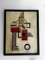Kassák Lajos szignóval geometrikus alakzat !