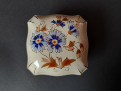 Zsolnay búzavirágos bonbonier 7,5x7,5x4,5 cm