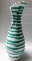 Gmundeni (Gmundner Keramik) kézzel festett csíkos váza 16 cm