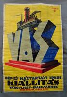 Gép és háztartási ipari kiállítás  1927 Repce János plakát - nagyméretű reprint plakát