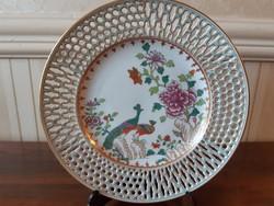 Herendi antik Paon de Peking  mintás áttört tányér