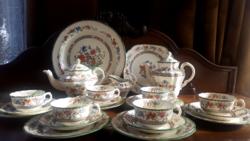 Copeland 6 személyes fajansz teás és süteményes készlet