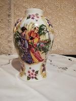 Eladó régi angol porcelán kinaiizáló festéssel váza!