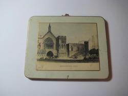 WESTMINSTER  HALL  mini kép 110 x 90 mm  , antik