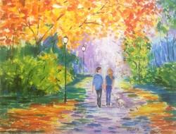 Hepp Natália: Kellemes  séta őszi parkban