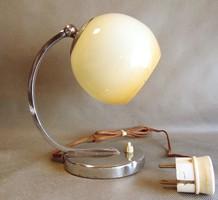 Art deco antik asztali - fali  lámpa rétegelt  üvegburával