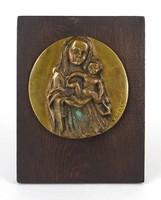1C897 Kaubek Péter : Mária a kis Jézussal 1984 Képcsarnokos plakett