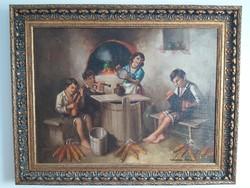 Szász István 1878-1965 festőművész, Zenélő család