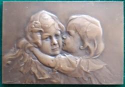 Blanche Moria: Art Nouveau, Jugendstil, szecesszió, bronz plakett