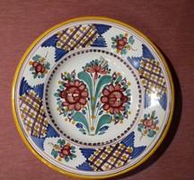 Kerámia tál, tányér falitál,  Modra, kézműves munka,