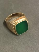 Zöld Köves pecsétgyűrű (V23943)