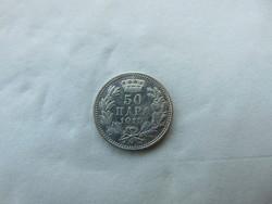 Szerbia EZÜST 50 para 1915