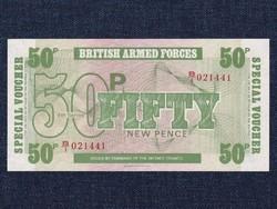 Anglia A brit fegyveres erők bankjegyei 50 New Pence bankjegy 1972 (id14122)