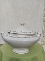 Gyönyörű leveses tàl fedeles. mosogatógépben elmosva fertőtlenítve! antik szecessziós Art-deco
