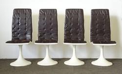 0X503 Retro Space Age design fehér formatervezett székek