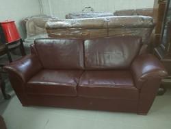 Bőrkanapé 2 fotellal