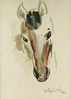 1C993 Káplár Éva : Ló portré 1996