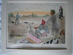 Pályi Jenő karikatúra 41 X 32 cm