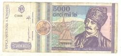 5000 lei 1992 Románia