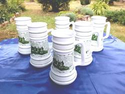 Alföldi porcelán Szegedi literes korsó készlet