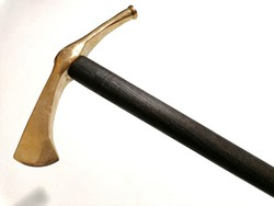 Új bronz szkíta fokos sétabot túrabot bronz koptatóval (4)