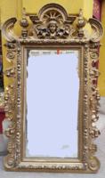 EXKLUZÍV!!!! Hatalmas eklektikus stílusú tükör konzollal figurális plasztikus díszekkel