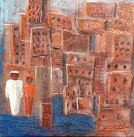 Horváth Ágota: Lagos  - absztrakt festmény a művésztől