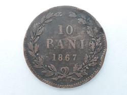 Románia 10 Bani 1867 - Román pénzérme eladó