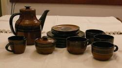 Kézműves német kerámia reggeliző készlet 4 személyre