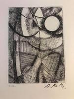 Réth Alfréd (1884 Budapest- 1966 Párizs) Rézkarc - Kézzel aláírt EA. Művész példány Készült 1962-ben