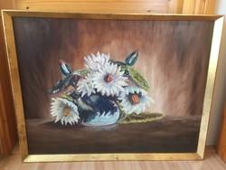 Szécsi András virágcsendélet olajfestmény