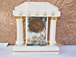 Antik fajansz , porcelán óra