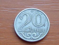 KAZAHSZTÁN 20 TENGE 2002  verdejel) ҚҰБ 75% réz, 25% nikkel  #