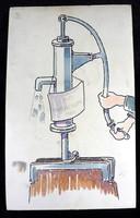 1920-ban készült kétoldalas mű Zsófia Országos Gyermekszanatórium Egyesület ADAKOZÓ AJÁNLOTT LAP