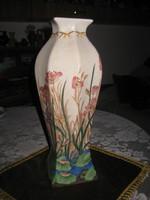 Fajansz váza  13 x 35,5 cm  szép állapotban