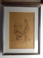 Áron Nagy Lajos ceruza rajz