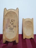 Gyerek játék fa teknő pár