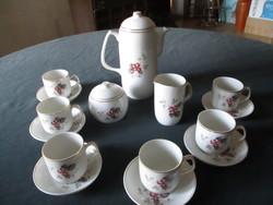 6 személyes régi Hollóházi kávés készlet