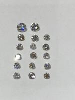 Gyémánt Brilliáns 1,3ct ( 17db ) Fehér Kő Egyben Piaci Értéke Töredékért Eladó & Csere Leárazva !