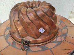 Vörösréz, bronz kuglóf sütő forma! csavart mintás szép formájú,gyüjteménybe, ajàndéknak, dekoráció