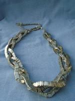 Antik skandináv tibeti 3 soros fonott nyaklánc colier komoly súly : 84 cm hosszú súlya: 131 gramm