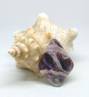 Chevron ametiszt ásvány medál gyöngy