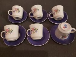 Alföldi jelzett porcelán kávéscsészék 6db