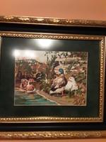 Goblein kép kacsákkal, igényes keretben
