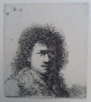 Rembrandt:hullámos hajjal 1895 HELIOGRAVURE szignózott a lemezen