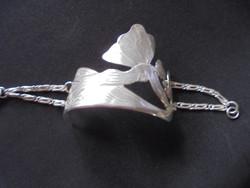Szecessziós ezüst karkötő