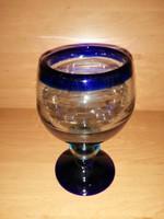 Vastag üveg kehely talpas pohár 18 cm (14/d)